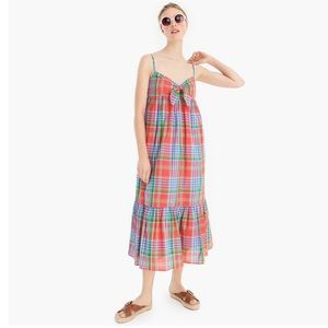 💕J. Crew Voile Tie Front Tiered Dress💕 NWT